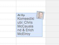 Event listing in Google Calendar